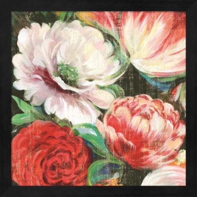 Metaverse Art Lavish Blooms I Framed Wall Art