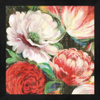 Metaverse Art Lavish Blooms I Framed Wall Art