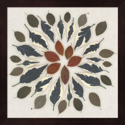 Metaverse Art Leaf Pattern I Framed Wall Art