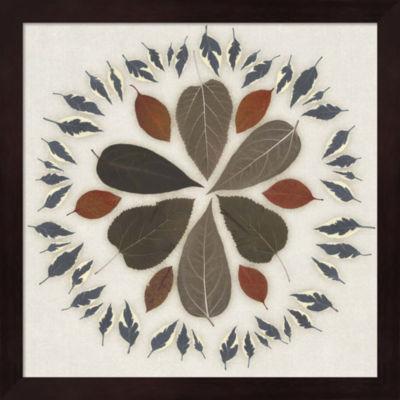 Metaverse Art Leaf Pattern II Framed Wall Art