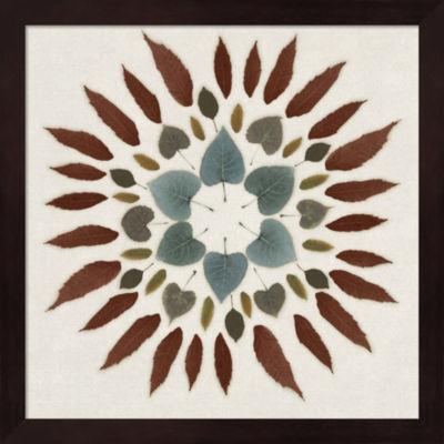 Metaverse Art Leaf Pattern III Framed Wall Art