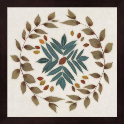 Metaverse Art Leaf Pattern IV Framed Wall Art