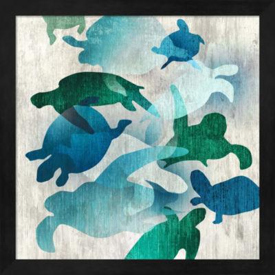 Metaverse Art Leatherback I Framed Wall Art