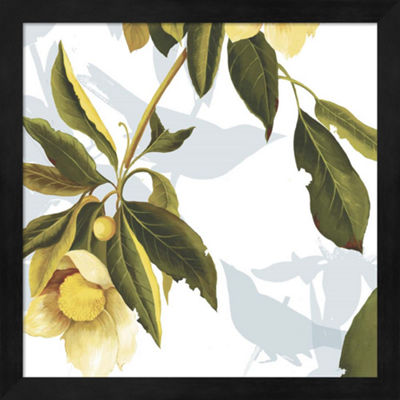 Metaverse Art Lemon Floral Framed Wall Art
