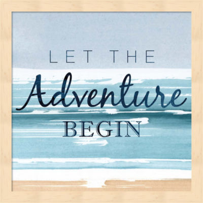 Metaverse Art Let the Adventure Begin Framed WallArt