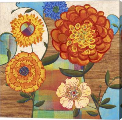 Metaverse Art Funky Flowers Canvas Art