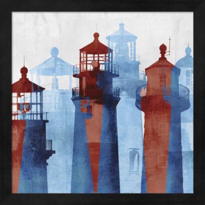 Metaverse Art Lighthouse I Framed Wall Art