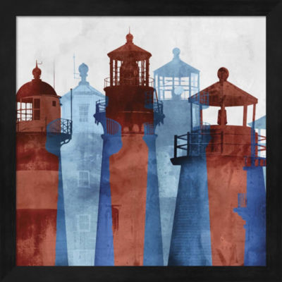 Metaverse Art Lighthouse II Framed Wall Art