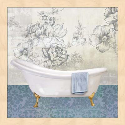 Metaverse Art Garden Bath II Framed Wall Art