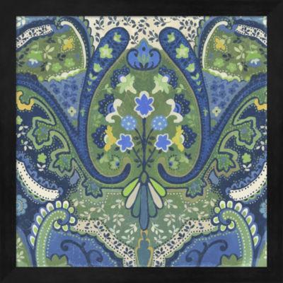 Metaverse Art Garden Mosaic I Framed Wall Art