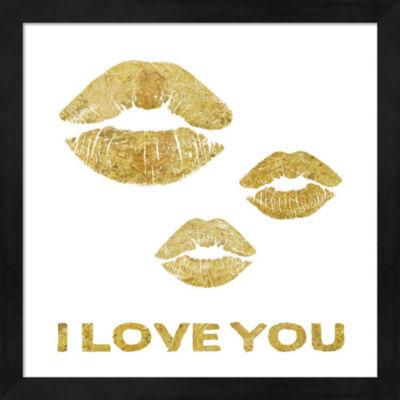 Metaverse Art Lip Love Framed Wall Art
