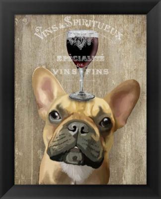 Metaverse Art Dog Au Vin French Bulldog Framed Wall Art