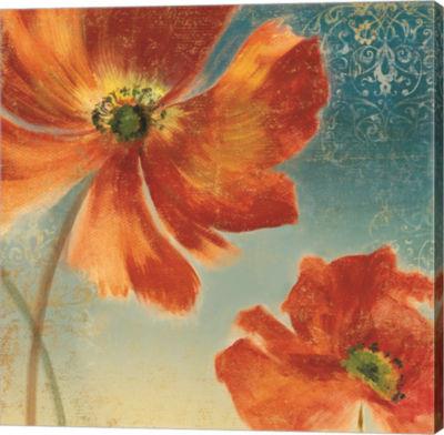 Metaverse Art Lovely I (New Orange Poppies) FramedCanvas Art