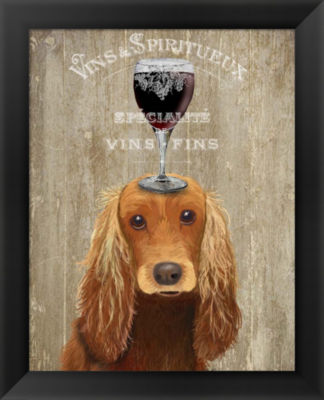 Metaverse Art Dog Au Vin Cocker Spaniel Framed Wall Art