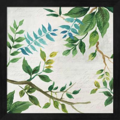 Metaverse Art Lush Leaves Framed Wall Art