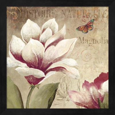 Metaverse Art Magnolia Framed Wall Art