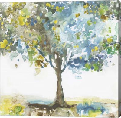 Metaverse Art Majestic Blue Canvas Art