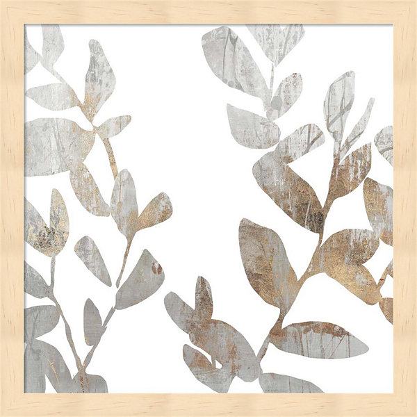 Metaverse Art Marble Foliage I Framed Wall Art