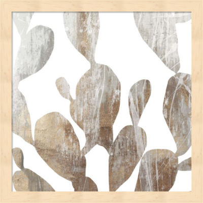 Metaverse Art Marble Foliage II Framed Wall Art