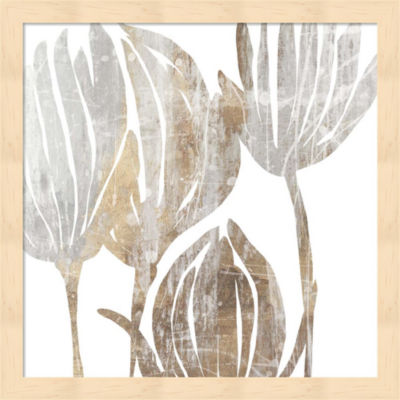 Metaverse Art Marble Foliage III Framed Wall Art