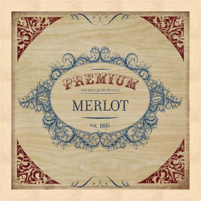 Metaverse Art Merlot Framed Wall Art