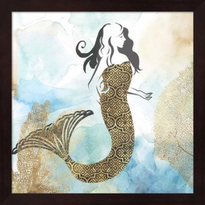 Metaverse Art Mermaid I Framed Wall Art