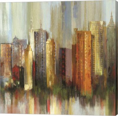 Metaverse Art Metropolis II Canvas Art