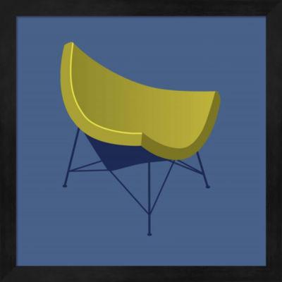 Metaverse Art Mid Century Chair I Framed Wall Art