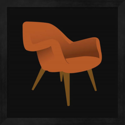 Metaverse Art Mid Century Chair II Framed Wall Art