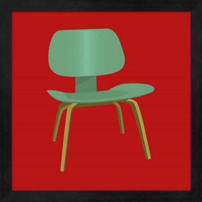 Metaverse Art Mid Century Chair III Framed Wall Art