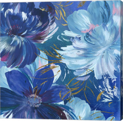 Metaverse Art Midnight Floral II Canvas Art