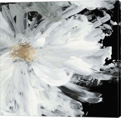 Metaverse Art Black Peony Canvas Art