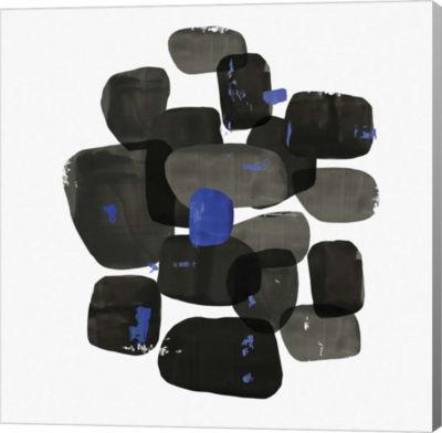 Metaverse Art Black Shapes Canvas Art