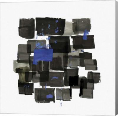 Metaverse Art Black Tiles Canvas Art