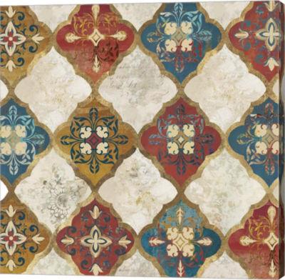 Metaverse Art Moroccan Spice Tiles I Canvas Art