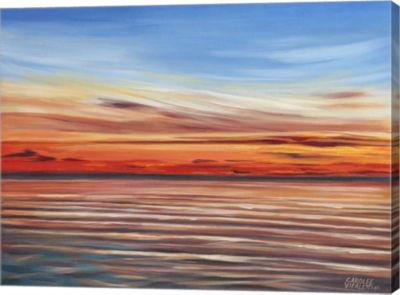 Metaverse Art Tranquil Sky II Canvas Wall Art