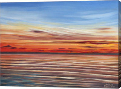 Metaverse Art Tranquil Sky II Canvas Wall Art