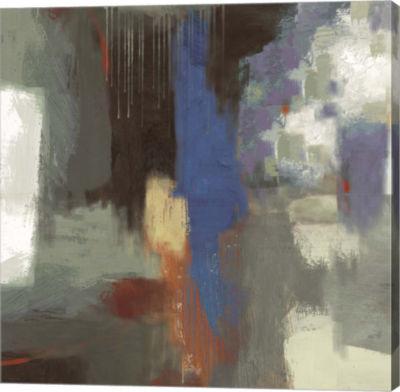 Metaverse Art Blue Abstract Canvas Art