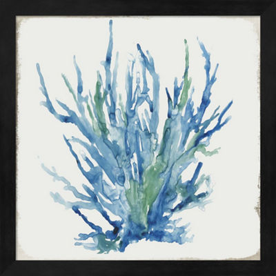 Metaverse Art Blue and Green Coral II Framed WallArt