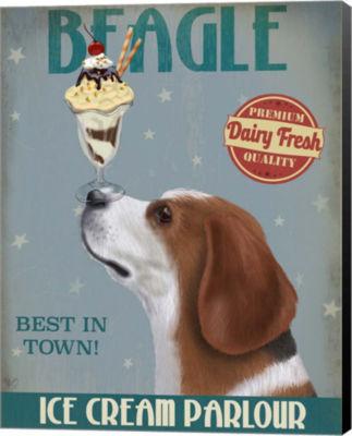Metaverse Art Beagle Ice Cream Canvas Wall Art