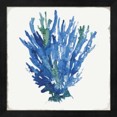 Metaverse Art Blue and Green Coral III Framed WallArt