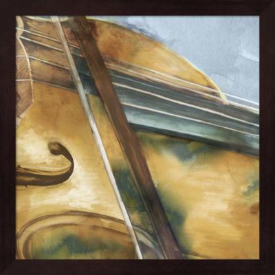 Metaverse Art Musical Violin Framed Wall Art