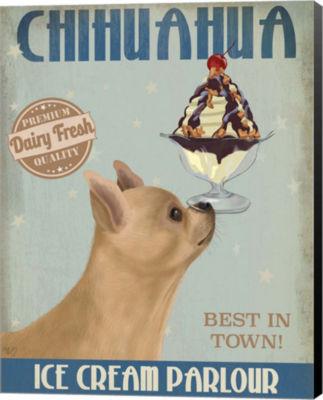Metaverse Art Chihuahua Fawn Ice Cream Canvas WallArt