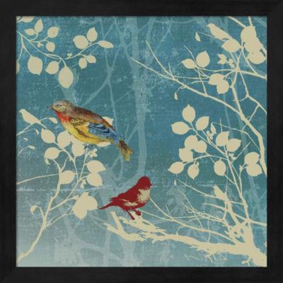 Metaverse Art Blue Bird II Framed Wall Art
