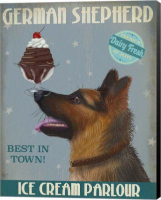 Metaverse Art German Shepherd Ice Cream Canvas Wall Art