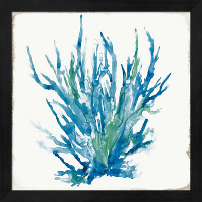 Metaverse Art Blue Coral I Framed Wall Art