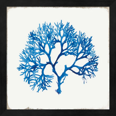 Metaverse Art Blue Coral II Framed Wall Art