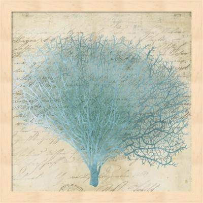 Metaverse Art Blue Coral III Framed Wall Art