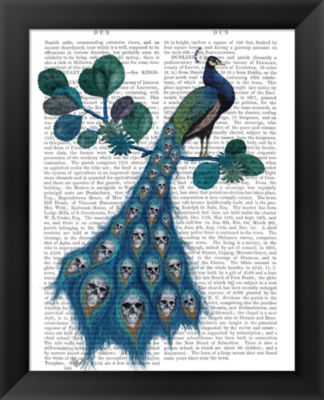 Metaverse Art Peacock Soul Gatherer Framed Wall Art