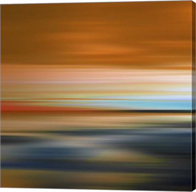 Metaverse Art Blurred Landscape I Canvas Art